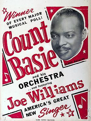 """Count Basie 16"""" x 12"""" Photo Repro Concert Poster"""