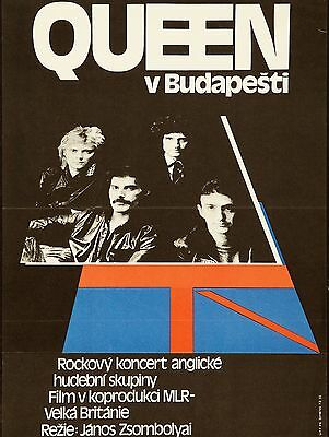 """Queen Budapest  16"""" x 12"""" Photo Repro Concert Poster"""