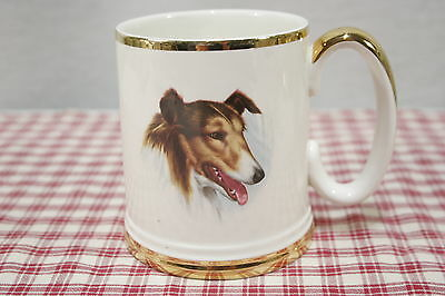 Lord Nelson Rough Collie Large Mug or Stein, Gold Trim.