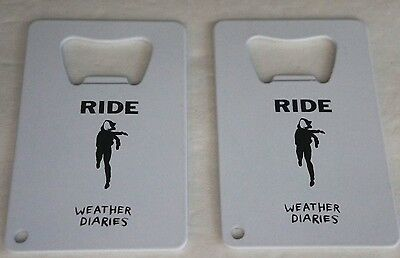 RIDE Weather Diaries 2017 Bottle Opener Keychain TWO (2) NEW Lot Andy Bell Oasis