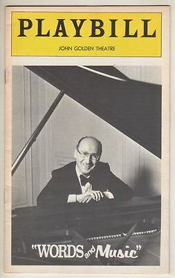 "Sammy Cahn  ""Words & Music""  Broadway  Playbill  1974"