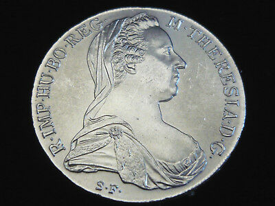 Oesterreich, 1 Taler, 1780 S.F., Maria Theresia,  Silber.! f/St.!