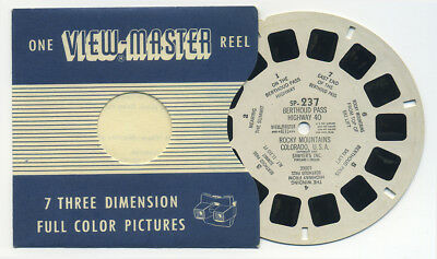 SP-237 Berthoud Pass Highway 40 Rocky Mts. Colorado View-Master SP Single Reel