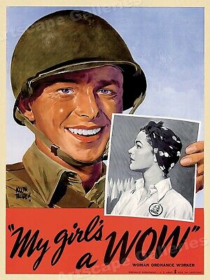 My Girl's a WOW! (Woman Ordnance Worker) - 1943 WW2 Poster - 20x28