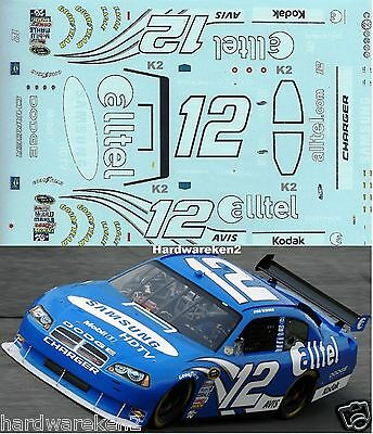 Nascar Decal #12 Alltell 2008 Dodge Charger Ryan Newman