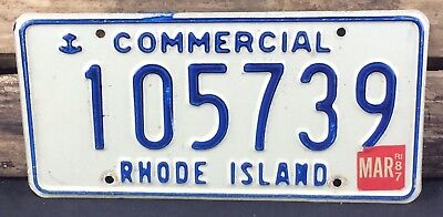 Rhode Island 1987 COMMERCIAL TRUCK License Plate 105739 - Natural Sticker!
