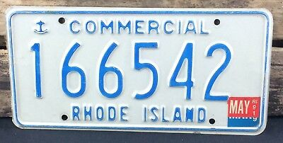 Rhode Island 1989 - 1991 COMMERCIAL TRUCK License Plate!