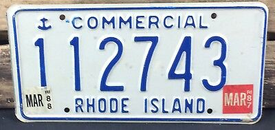 Rhode Island 1987 - 1988 COMMERCIAL TRUCK License Plate!