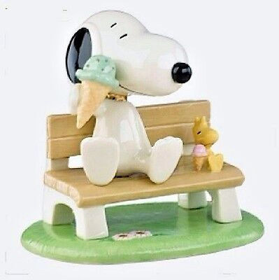Lenox PEANUTS Happiness is Ice Cream Snoopy and Woodstock Figurine NEW IN BOX