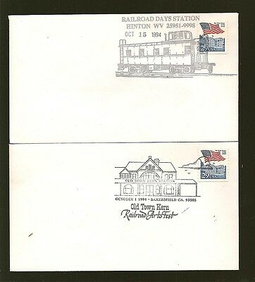USA -2- 1994 Railroad Station Museum Cancelled Covers