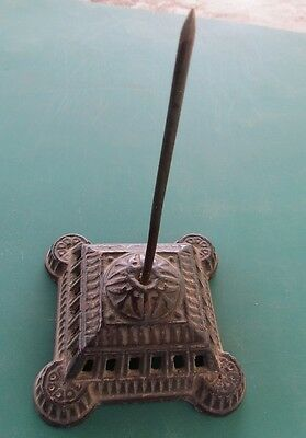 Vintage Cast Iron Desk Paper Needle 5-1/4 inch tall