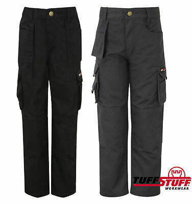 Tuff Stuff Pro Work Junior Trousers Kids 3-13 Yrs Boys Girls Workwear Cargo Pant