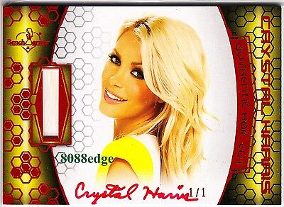 "2012 Benchwarmer Dna Hair Cut Auto: Crystal Hefner #1/1 Of Red Autograph ""hugh"""
