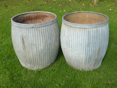 Pair Dolly/Peggy Tub-  Vintage Orig British not Repro. Ideal For Planters!