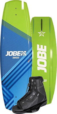 Jobe Shocker (Vanity Shape) wakeboard and bindings 7-10 uk