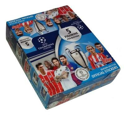 Champions League 2017-2018 Box 30 Packets Stickers Topps