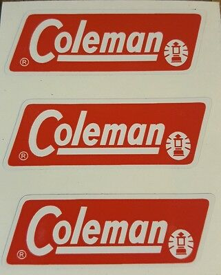 Three (3) New Coleman Replacement Sticker Label Decal Lantern Stove 1971-1983