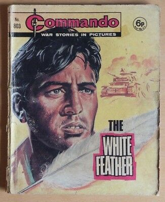"""COMMANDO # 803 """"The White Feather"""" published 1974. War Stories Picture Library."""