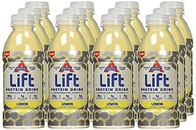 12X Ready to Drink Lift Protein Drink, Lemon, 16.9 Ounce (Pack of 12) VHTF LQQK