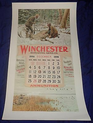 BR1961 WINCHESTER Circa 60's Dec. 1898 Calendar A.B. Frost NOS shipped rolled