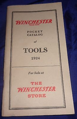"""BR1974 WINCHESTER 1984 Reprint 1924 Tools Pocket Catalogue 3.75""""x7"""" 49 Pages"""