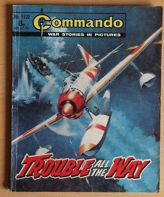 """COMMANDO # 1122 """"Trouble all the Way"""" published 1977 War Stories Picture Library"""