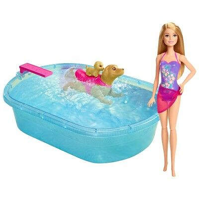 Barbie & Her Sisters in a Puppy Chase - Pool Playset