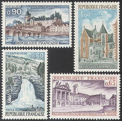 France 1973 Tourism/Waterfall/Buildings 4v set (n31592)