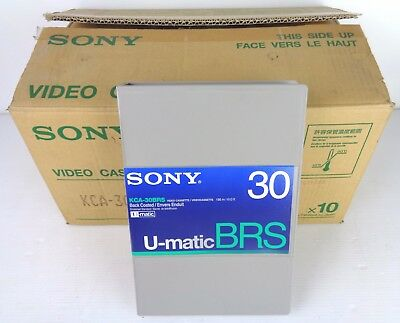 sony u-matic brs-30 kca-30 brs video cassette, 10 pezzi, NEW!! NUOVE CON SCATOLA