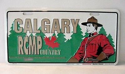 """Rcmp Souvenir License Plate   """"calgary Rcmp Country""""   Not An Official Plate"""