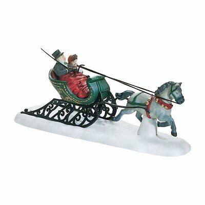 Dept 56 Dickens Village ~ Dashing Through The Snow ~ Mint In Box 58203