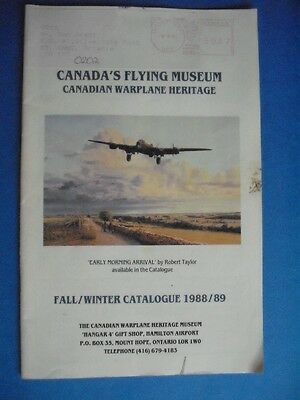 Canada's Flying Museum Warplane Heritage Fall Winter Catalogue 1988/89 Book