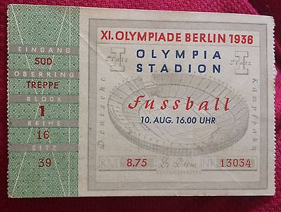 billet ticket JO jeux olympiques Berlin 1936 olympic game Italie Norvège foot