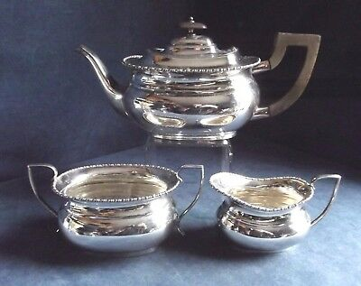 SUPERB ~ SILVER Plated ~ Bulbous TEA SET ~ c1920 by Marples, Wingfield & Wilkins