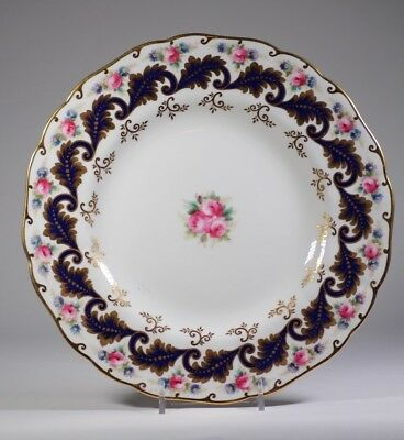 Cauldon Hand Painted Rose Cabinet Plate