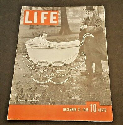 December 21, 1936 LIFE Magazine EARLY issue 30s ads FREE SHIPPING Dec. 12