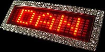 Bnip Red Led Message Belt Buckle & Belt Moving Message 6 Messages 512 Characters