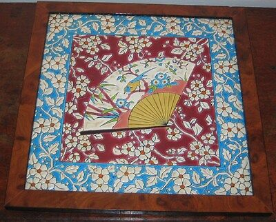 French Probably Longwy Or Vieillard Bordeaux Large Tile Plaque Late 19Th C