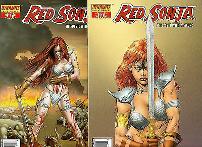 Red Sonja 17 B NM C NM+ Mike Mayhew Marat Mychals Variants Lot 2 Dynamite Comics