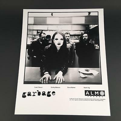 Garbage 1995 Almo Sounds Band Promo 8x10 Glossy Black & White Shirley Manson