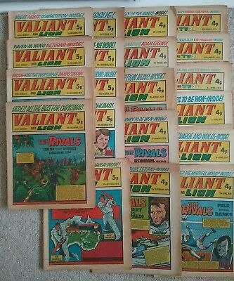 20 British VALIANT Comics From 1974 -  POSTFREE UK Only