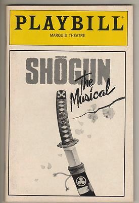 "Playbill   ""Shogun the Musical""  1990    FLOP    OPENING NIGHT"