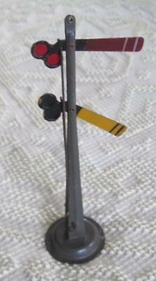Vintage American Flyer Metal Manual Operated Double Arm Semaphore Train Signal