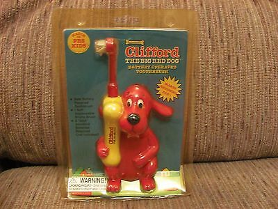 Vintage PBS Clifford The Big Red Dog Electric Battery Operated Toothbrush