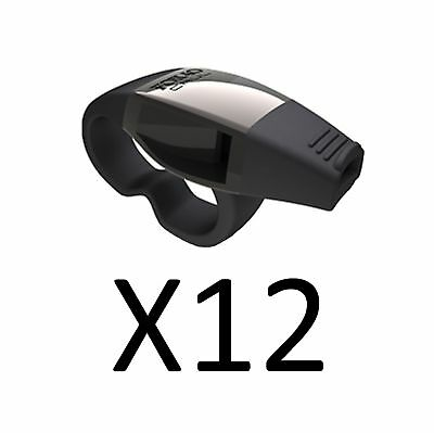 Fox 40 Official Caul Fingergrip Whistle Hockey-Soccer Referee Sports (12-Pack)
