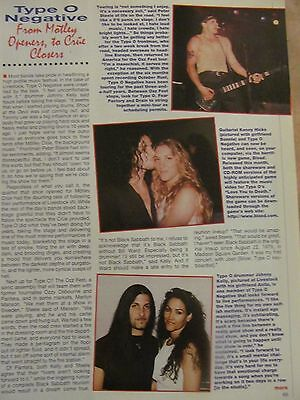 Type O Negative, Full Page Vintage Clipping