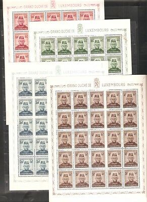 lot 628 from my treasures LUXEMBOURG  Caritas 1946 complete set and sheet  MNH