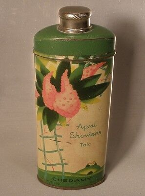 Cheramy April Showers Talc Tin 1 Ounce Size