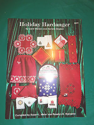 Holiday Hardanger Christmas Embroidery Pattern Book