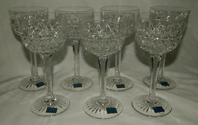 7 Thomas Webb Wellington Cut Crystal Wine Hock Glasses NEW England Free Ship